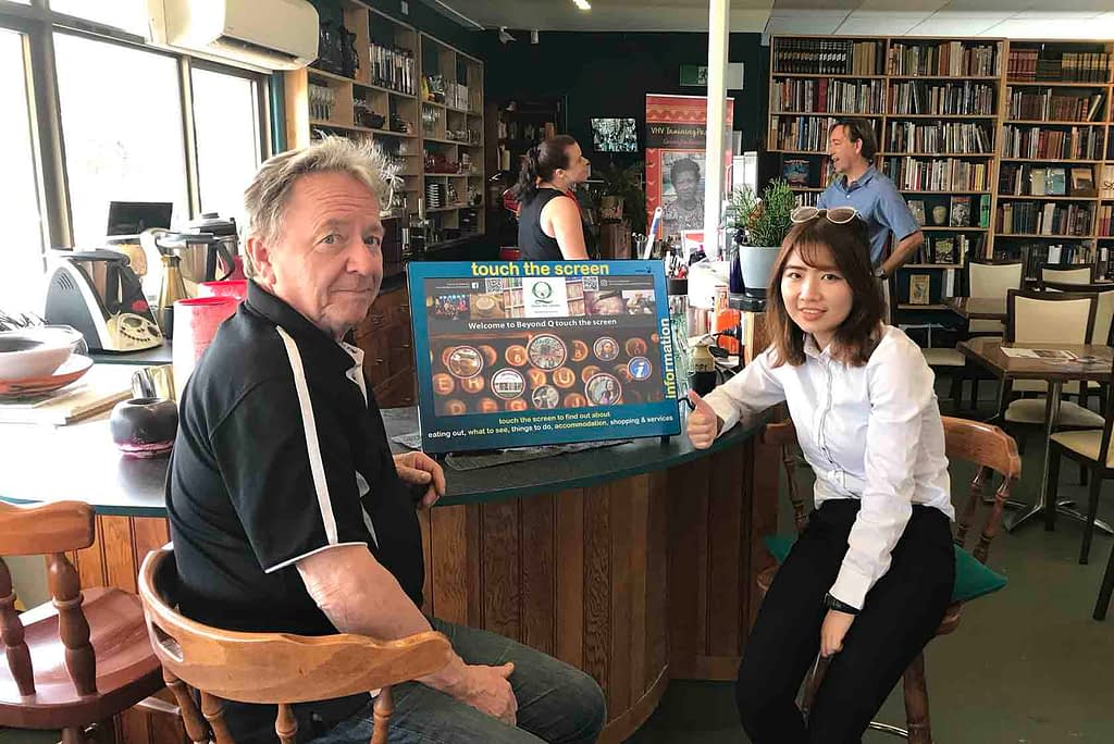 Simon Maddox From Beyond Q Cafe with Sandra Tong Datatrax