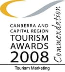 Commended at the 2008 Canberra and Capital Region Tourism Awards