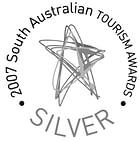 Silver award winner at the 2007 South Australian Tourism Awards