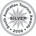 Silver award winner at the 2006 South Australian Tourism Awards