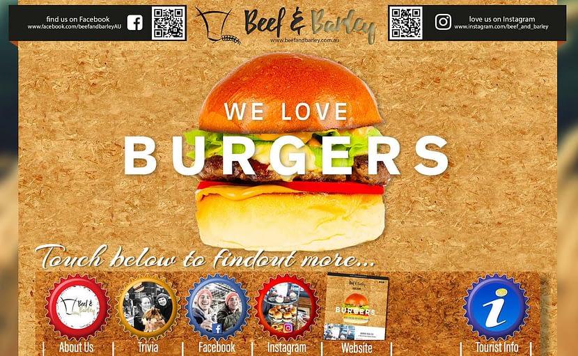 Beef & Barley Touchscreen