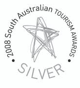 Silver award winner at the 2008 South Australian Tourism Awards
