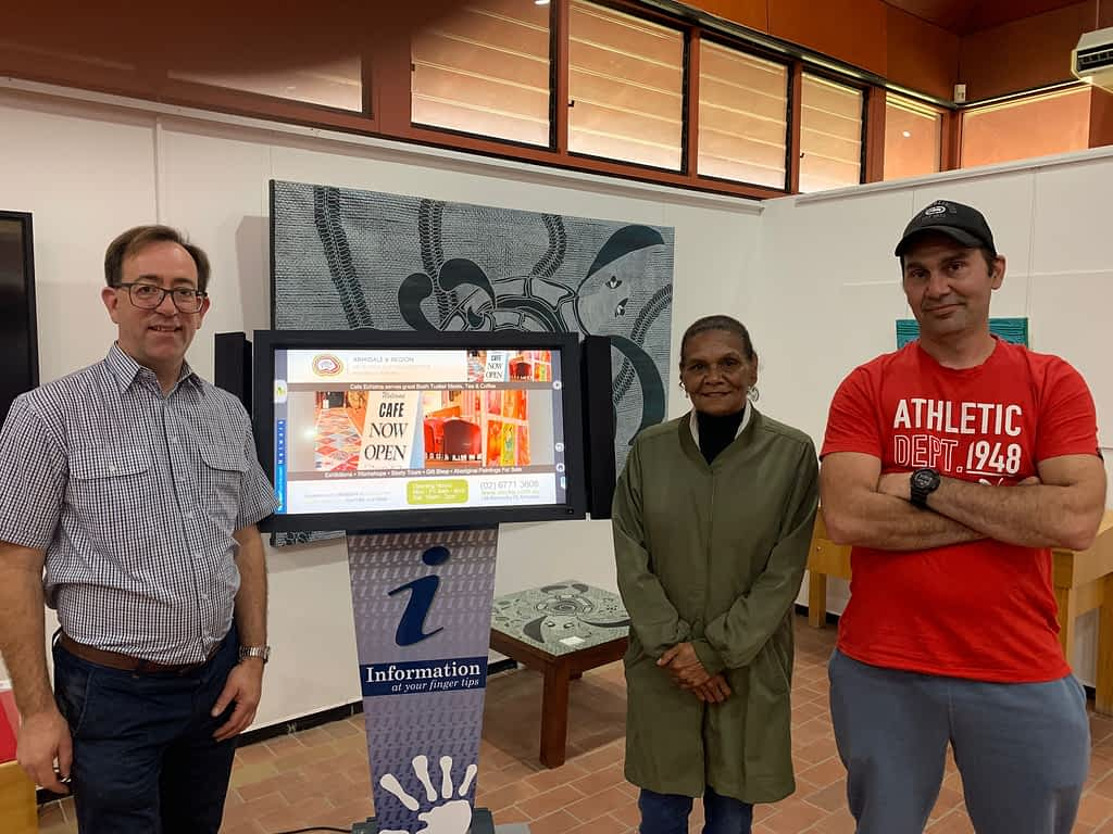 Showing Touchscreen at the Armidale Aboriginal Cultural Centre and Keeping Place