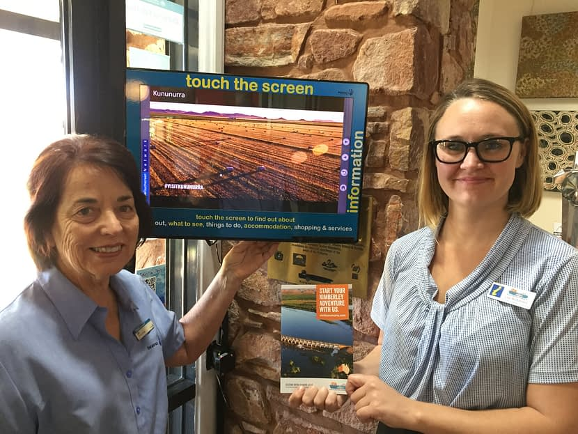 Kununurra VIC Sales and Marketing Lisa McDonnell with Installs Manager Jill