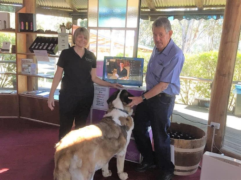 Sobels Winery - Mandy Richard & Archie (dog)